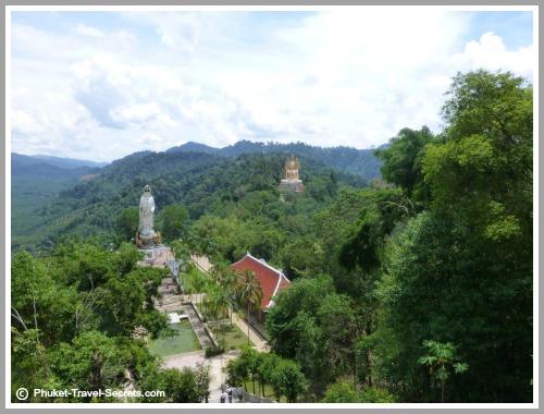 Views from the viewing area at Wat Bang Riang.