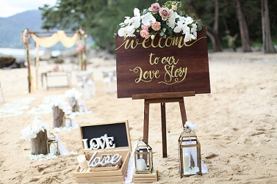 Ideas for a wedding on the beach in Thailand