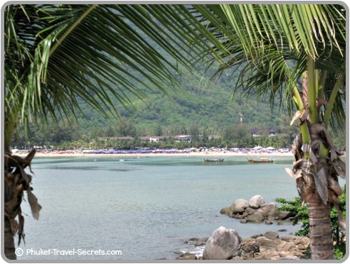 View of the laid back Kamala Beach in Phuket.