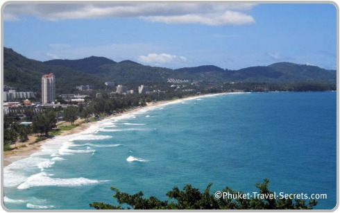 View overlooking Karon Beach in Phuket, in the south of Thailand.