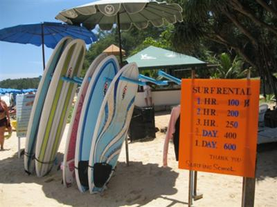 Surf Board hire at Kata