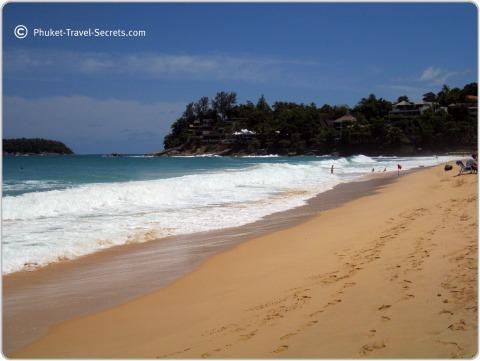 Looking north along the beach at Kata Noi.