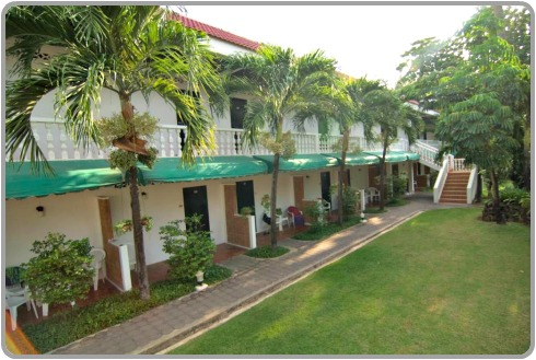 View of the gardens and rooms at Kata Villa Hotel at Karon Beach