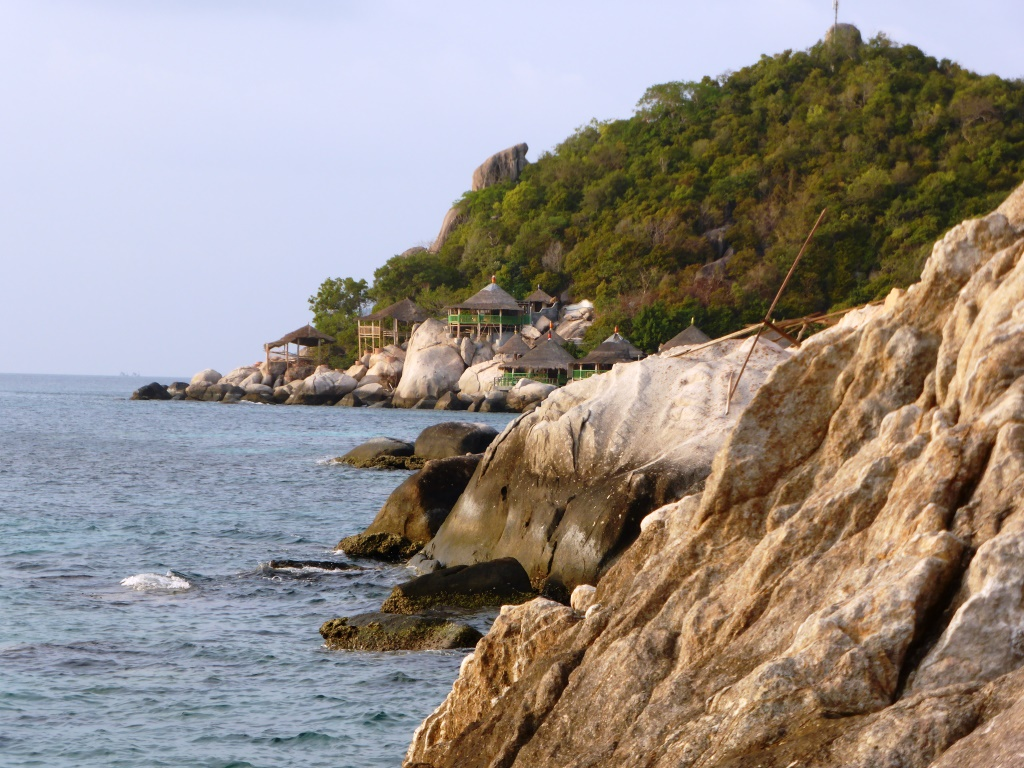 Resorts overlooking the bays at Ko Tao