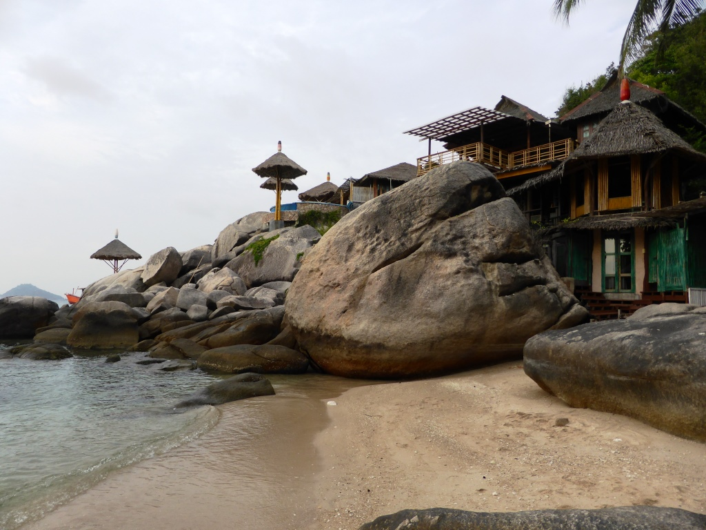 Beachfront Resorts along the southern beaches at Ko Tao