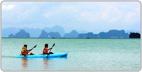 Kayaking around Koh Yao Yai