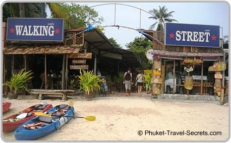 Walking Street at West Railay.