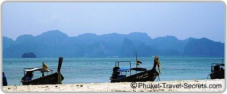 view of Krabi Mainland from the offshore islands