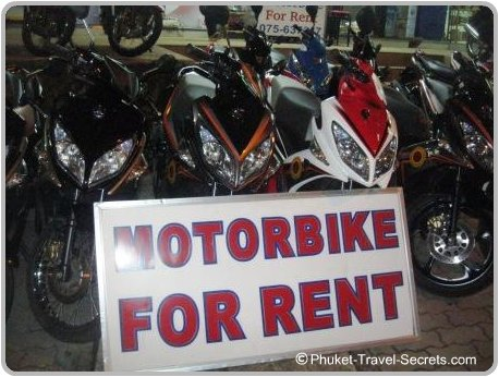 Motorbike's for rent in Krabi.
