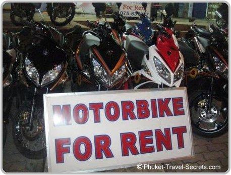 Motorbike's for rent in Krabi.