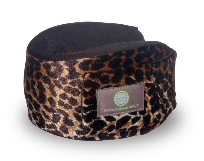 Leopard Print Sleep Collar