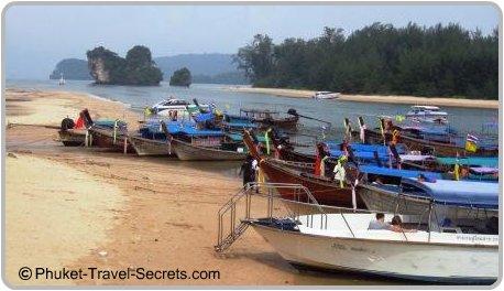 Longtail Boats at Nopparatthara Pier, Krabi.