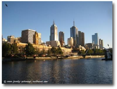 Melbourne from The Yarra River
