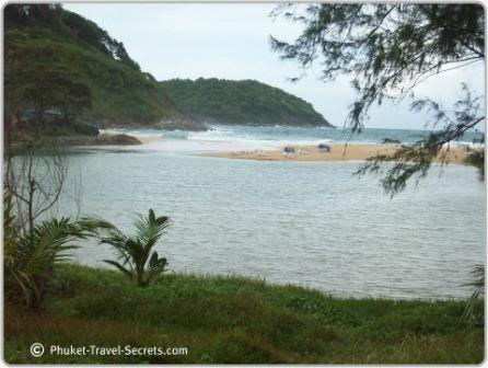 Saltwater lagoon at Nai Harn
