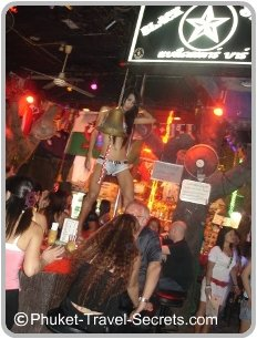 Pole Dancing in Soi Bangla, Patong Phuket.