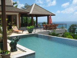 Enjoy stunning ocean views from your own private pool villa in Phuket.