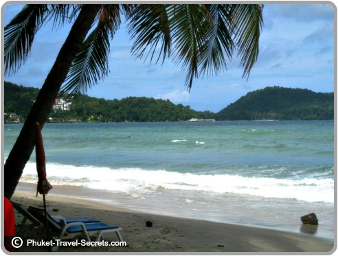 Looking out towards the headland south of Patong.