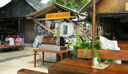 Jasman Resaurant at Ko Phi Phi near the Holiday Inn and Zeavola Resorts