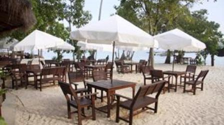 Beachfront bar and restaurant at the phi phi Beach resort