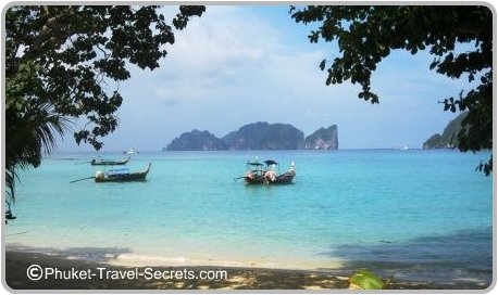 Tonsai Bay looking towards Phi Phi Ley