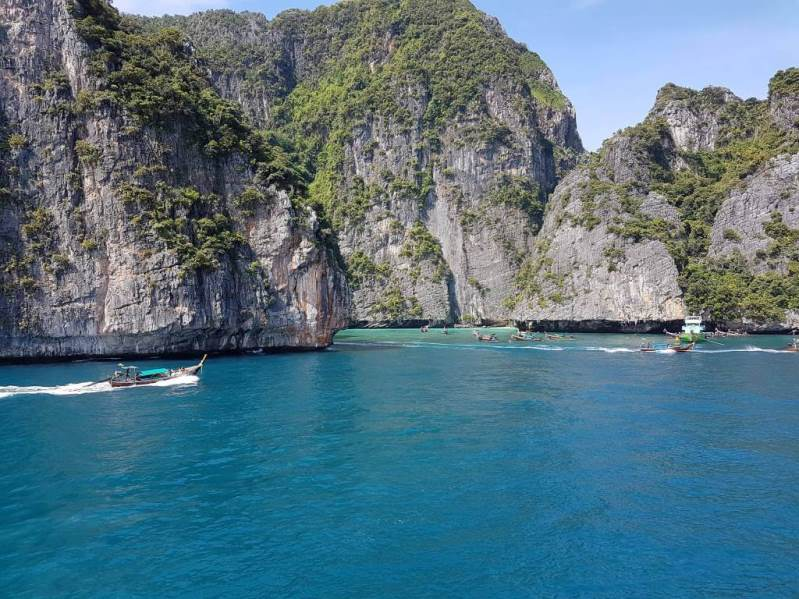 View from the Sundeck of the Premium Lounge Ferry of the sights around Ko Phi Phi
