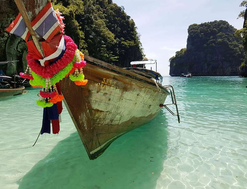 Our longtail boat for our Phi Phi Boat tour
