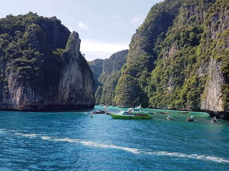 Longtail Boats around Phi Phi Ley