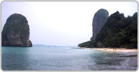 Happy Island just offshore from Phra Nang Beach.