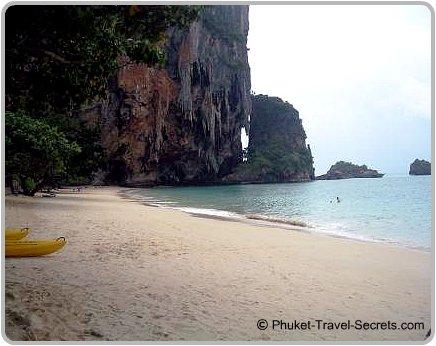 Southern end of Phra Nang Beach in Krabi.