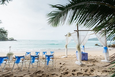 Stunning beach wedding setting in Phuket