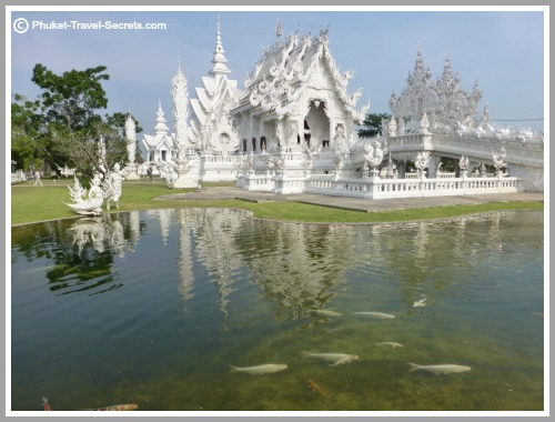 White Temple in Chiang Rai, Thailand.