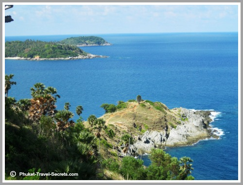 Beautiful scenery around the island of Phuket.