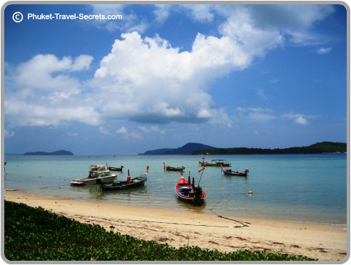 Looking from Rawai beach out to some of Phuket's offshore islands