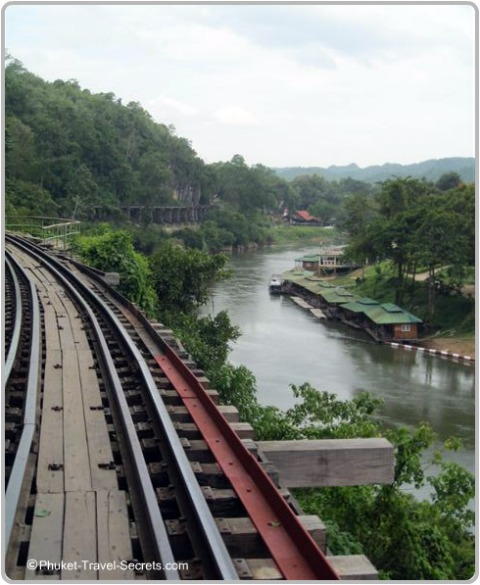 Views of Wang Pho Viaduct and the River Kwai