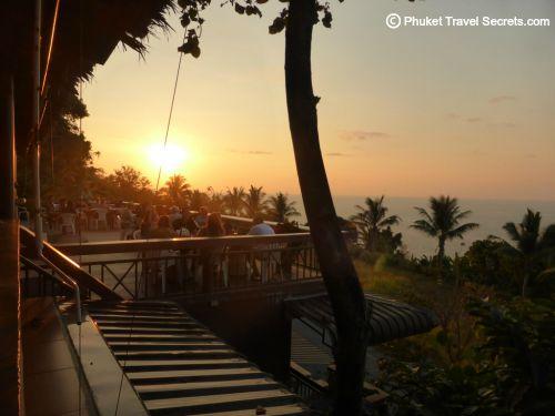 Sunset view at sabai Corner in Phuket
