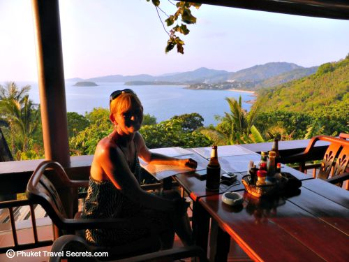 Great food, cold beers and a view to die for at Sabai Corner in Phuket