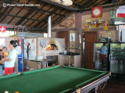 Woodfired Pizza oven and pool table