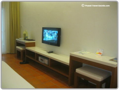 Large plasma screen TV  and entertainment system.