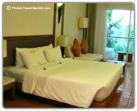 Comfortable, spacious rooms at The Sea Patong in Phuket.