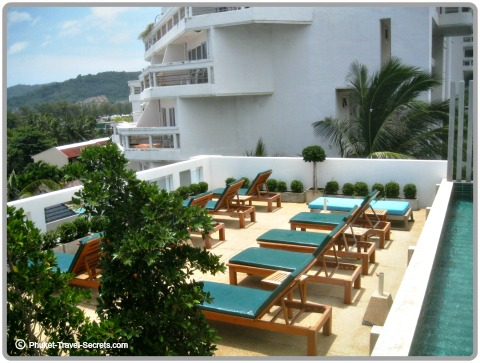 Rooftop sunbaking and swimming at the Sea Patong in Phuket.