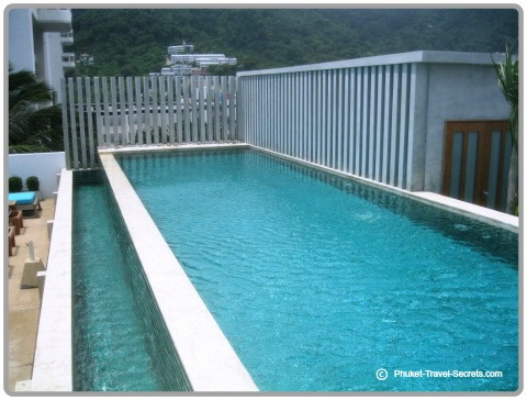 The rooftop swimming pool is an ideal spot to cool down.