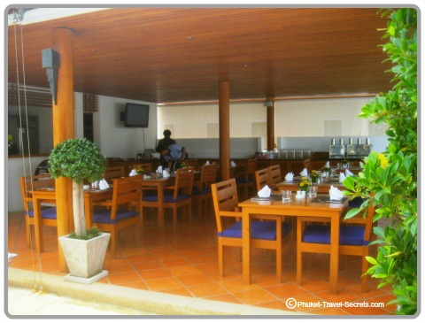 The Blue Restaurant is located on the rooftop of the Sea Patong.