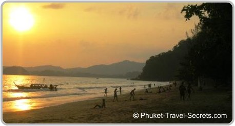 Sunset at Ao Nang Beach, Krabi Thailand