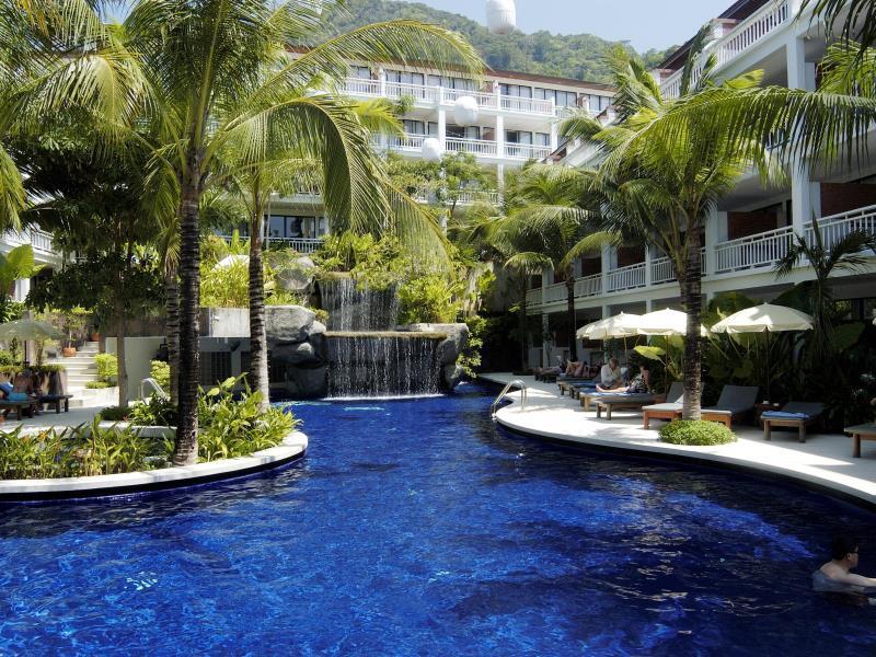 Swimming Pool at the Sunset Beach Resort Phuket.