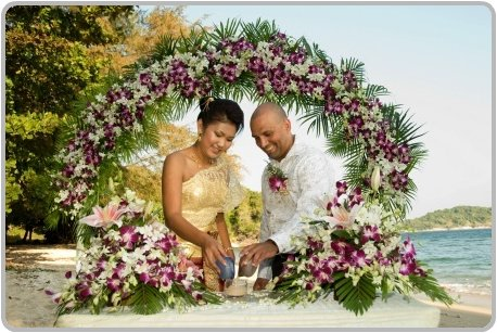 Thai Beach Wedding Unity Ceremony Why not indulge yourself and opt for a
