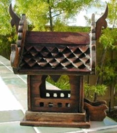 Hand carved X-Small Thai Spirit House