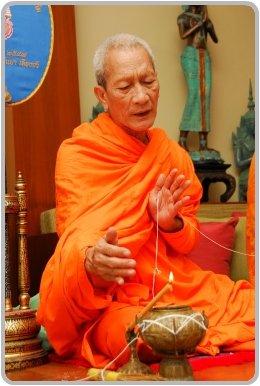 Buddhist blessing at a Thai Wedding