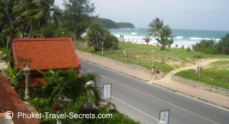 Views of Karon Beach from the restaurant