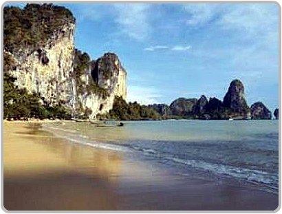 Longtail boats at Ton Sai Beach, Krabi.
