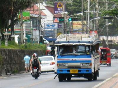 Local Songthaew bus services are one of the cheapest transport options in Phuket
